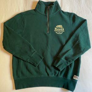 Roots Quarter Zip Fleece Sweatshirt
